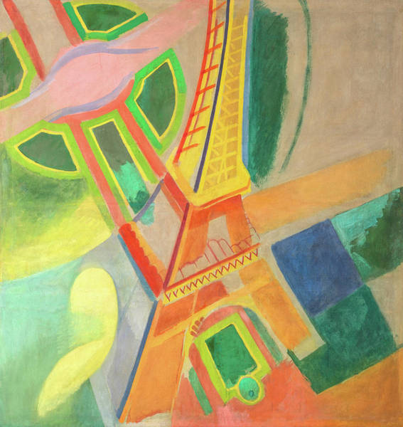 Wall Art - Painting - Eiffel Tower, Circa 1924 by Robert Delaunay