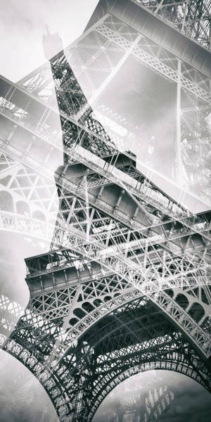 Wall Art - Photograph - Eiffel Tower Double Exposure - Panorama by Melanie Viola