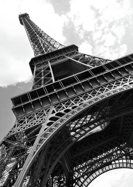 Exhibition Photograph - Eiffel Tower In Black And White by Sarah8000