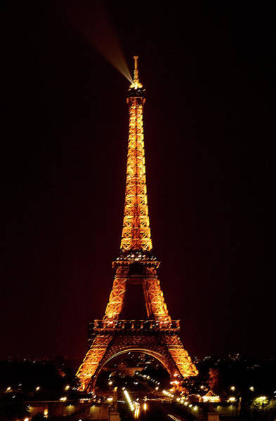 Photograph - Eiffel Tower, Night by Mick Burkey