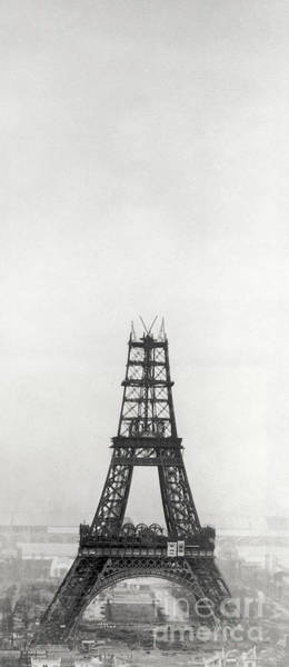 Wall Art - Photograph - Eiffel Tower, Paris During Construction by French School