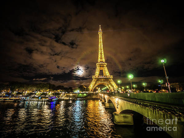 Photograph - Eiffell Tower At Night After The Storm Passed by PorqueNo Studios