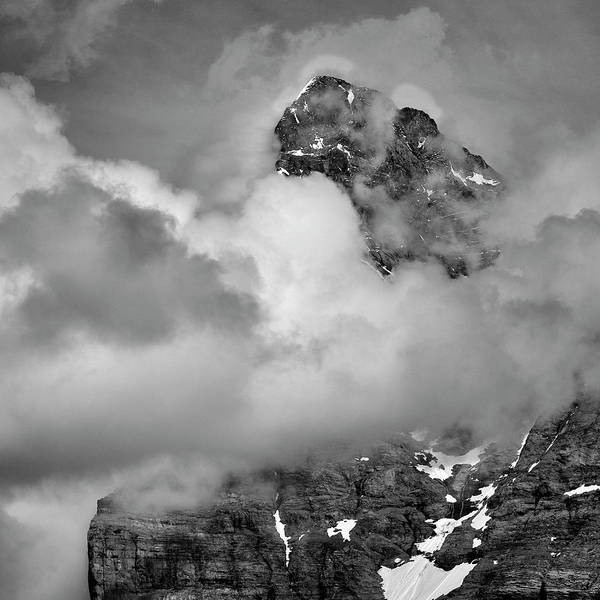 Wall Art - Photograph - Eiger. 3,967-meters. Alps. Bw by Guido Montanes Castillo