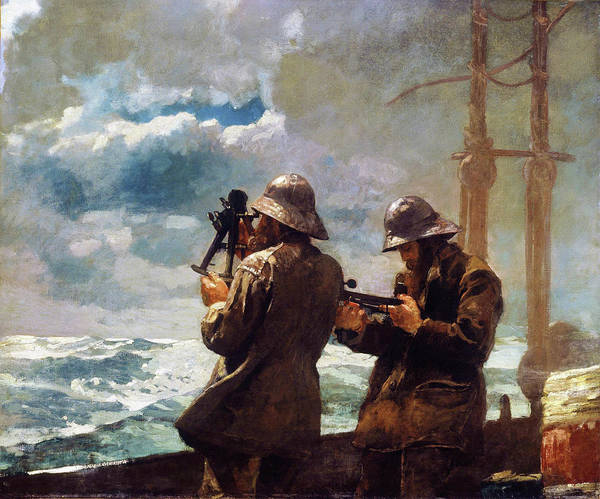 Wall Art - Painting - Eight Bells - Digital Remastered Edition by Winslow Homer