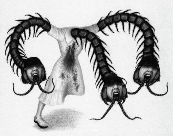 Drawing - Eiko The Demon - Artwork by Ryan Nieves