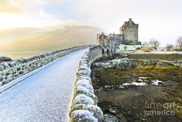 Wall Art - Photograph - Eilean Donan Castle In Winter by Javen
