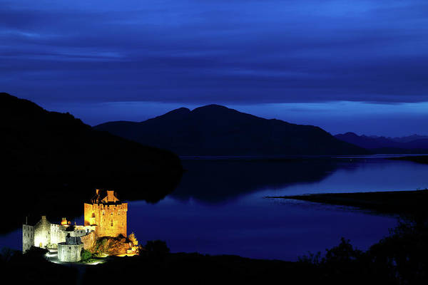 Photograph - Eilean Donan Castle Night View by Nicholas Blackwell