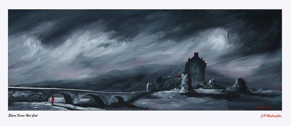 Eilean Donan Castle Painting - Eilean Donan Red Coat by J P McLaughlin