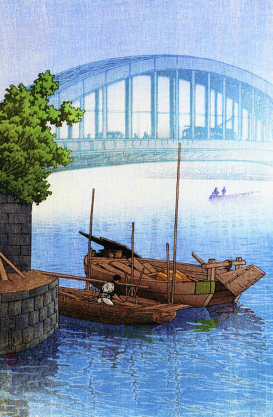 Wall Art - Painting - Eitai Bridge - Digital Remastered Edition by Kawase Hasui