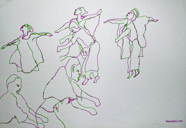 Painting - Ekitaguriro Traditional Dance Ankole by Gloria Ssali