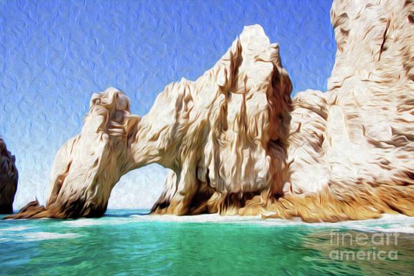 Digital Art - El Arco De Cabo San Lucas I by Kenneth Montgomery