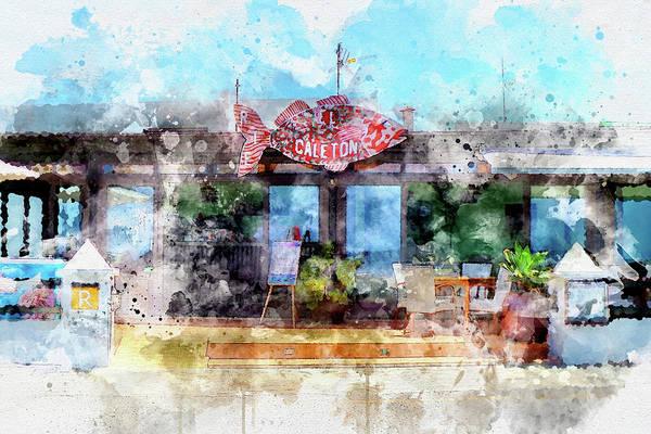 Lanzarote Digital Art - El Caleton Restaurante by Frank Etchells