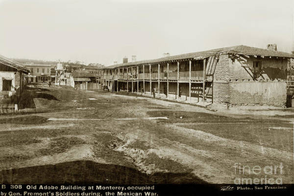 Photograph - El Cuartel, Monterey, Monterey County, Ca.  Circa 1880 by California Views Archives Mr Pat Hathaway Archives
