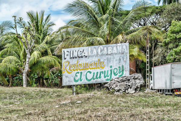 Photograph - El Curujey Sign by Sharon Popek
