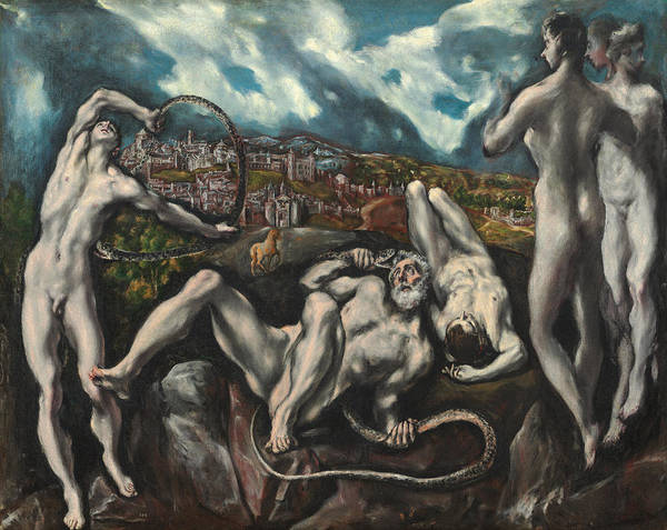 Strangling Painting - El Greco Laocoon. Date/period Between 1610 And 1614. Painting. Oil On Canvas. by El Greco -1541-1614-