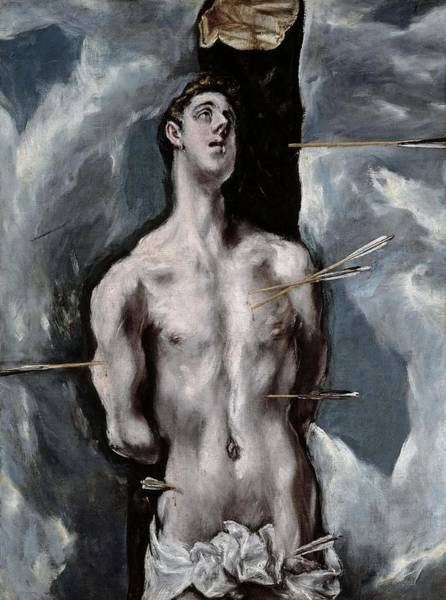 Gateway Arch Painting - El Greco / 'saint Sebastian', 1610-1614, Spanish School, Oil On Canvas, 115 Cm X 85 Cm, P03002. by El Greco -1541-1614-