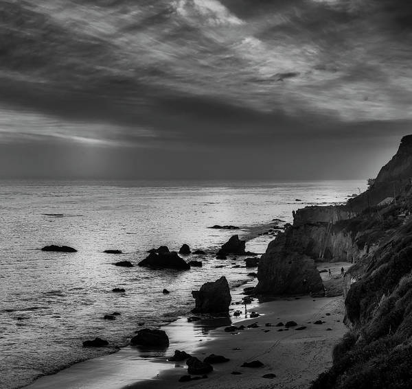 Photograph - El Matador Beach - B W by Gene Parks