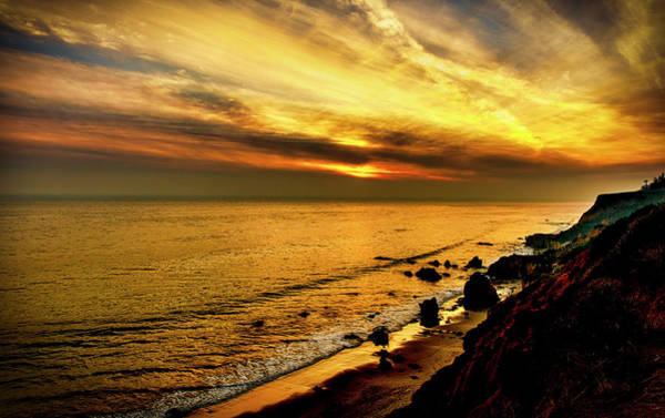 Photograph - El Matador Beach Sunset by Gene Parks