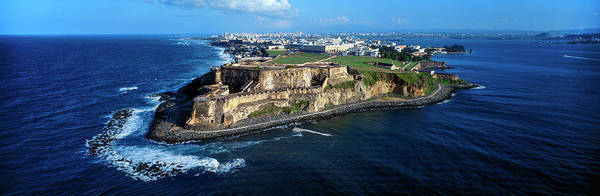Wall Art - Photograph - El Morro, Water, Puerto Rico, Usa by Panoramic Images