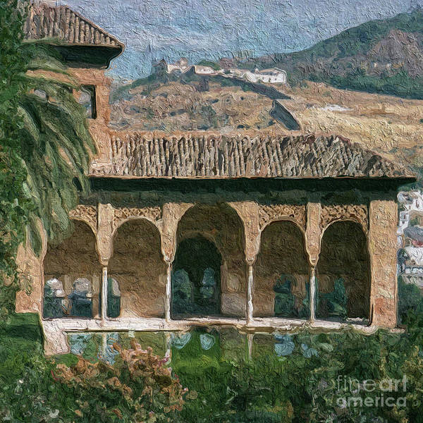 Granada Wall Art - Painting - El Partal by John Edwards