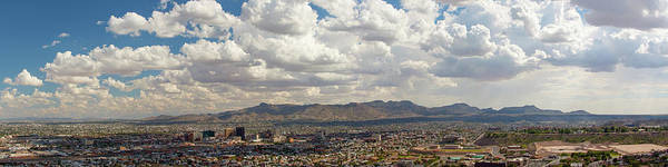 Downtown El Paso Photograph - El Paso Dowtown Panoramic by Photography By Steven R. Green