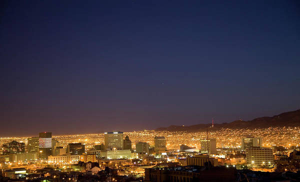 Night Photograph - El Paso Skyline At Night by Vallariee
