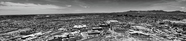 Photograph - El Paso, Texas Panorama In Black And White  by Chance Kafka