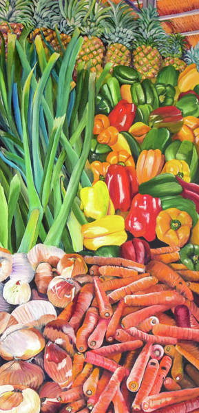 Painting - El Valle Market by Marilyn McNish