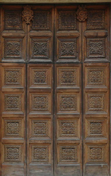 Photograph - Elaborate Carved Wooden Doors Of Cathedral Of St Catherine by Steve Estvanik