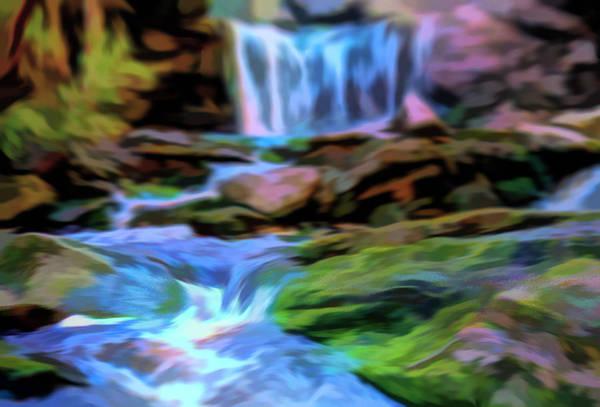 Mixed Media - Elakala Falls by Dan Sproul