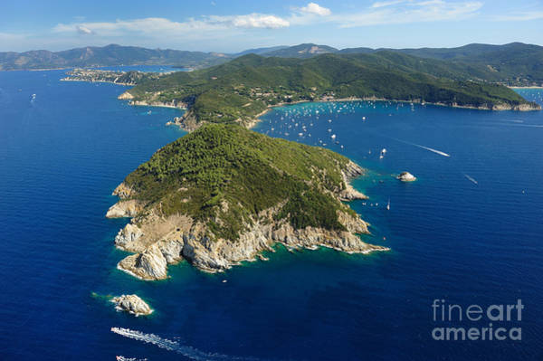 Elba Island -aerial View Of Capo Art Print