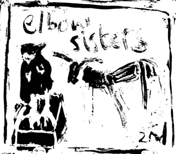 Digital Art - Elbow Sisters 2nd Black Goat by Artist Dot