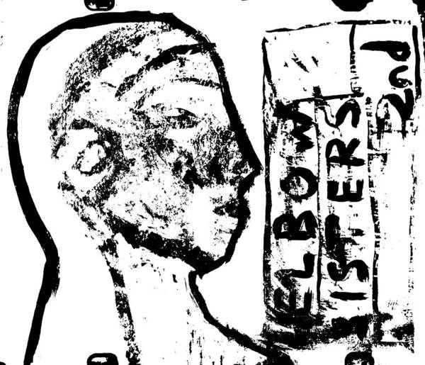 Digital Art - Elbow Sisters 2nd, Face Portrait by Artist Dot