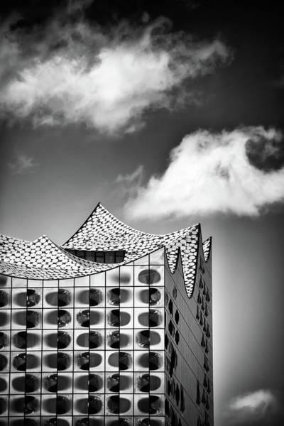 Wall Art - Photograph - Elbphilharmonie Hamburg Black And White Modern Architecture by Matthias Hauser