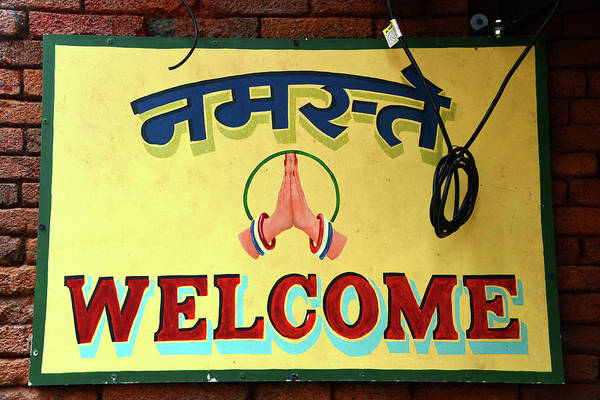 Wall Art - Photograph - Welcome Sign In India by David Lee Thompson