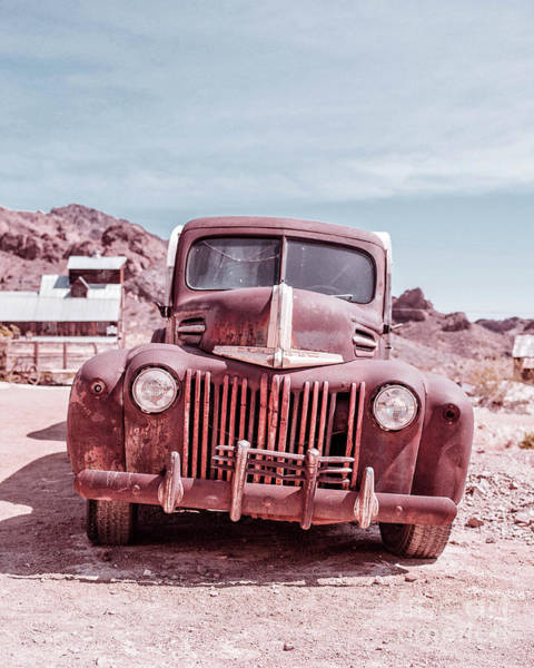 Photograph - Eldorado Ghost Town Old Ford Pickup Truck by Edward Fielding