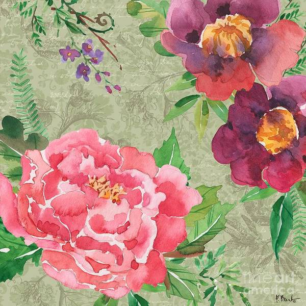 Wall Art - Painting - Eleanor Floral I by Paul Brent