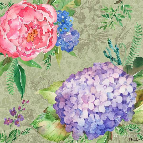Wall Art - Painting - Eleanor Floral II by Paul Brent