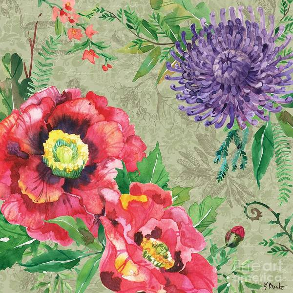 Wall Art - Painting - Eleanor Floral IIi by Paul Brent