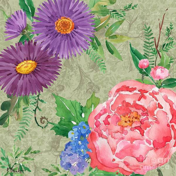 Wall Art - Painting - Eleanor Floral Iv by Paul Brent