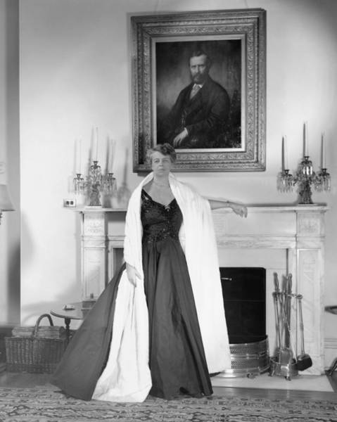 Heroine Photograph - Eleanor Roosevelt In The White House by Bachrach
