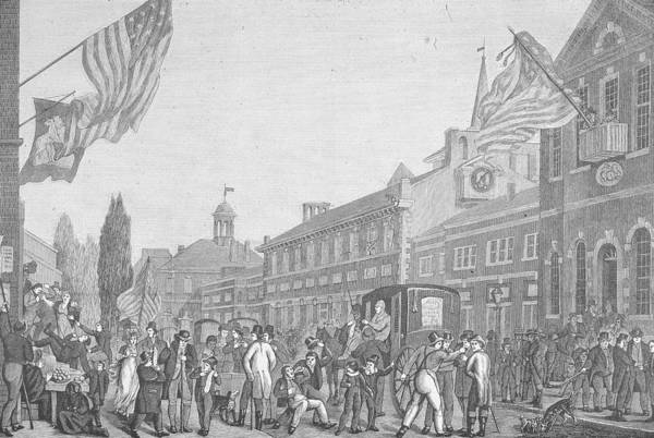 Election Photograph - Election In Front Of State House, Pa by Kean Collection