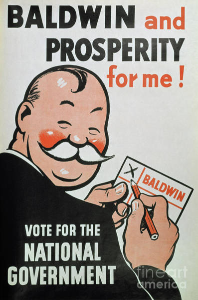 Vote Wall Art - Painting - Election Poster, 1935 by English School