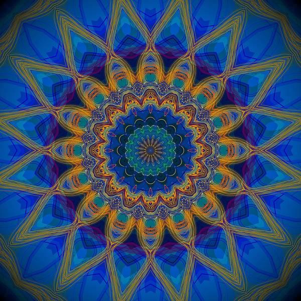 Digital Art - Electric Blue Bohemian Mandala  by Sheila Wenzel