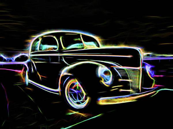 Digital Art - Electric Black by Rick Wicker