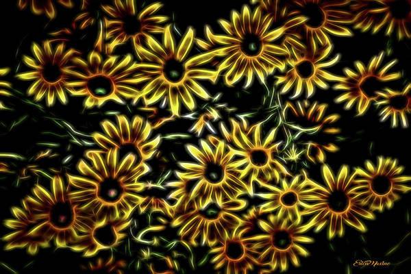 Digital Art - Electric Bouquet 845 by Ericamaxine Price