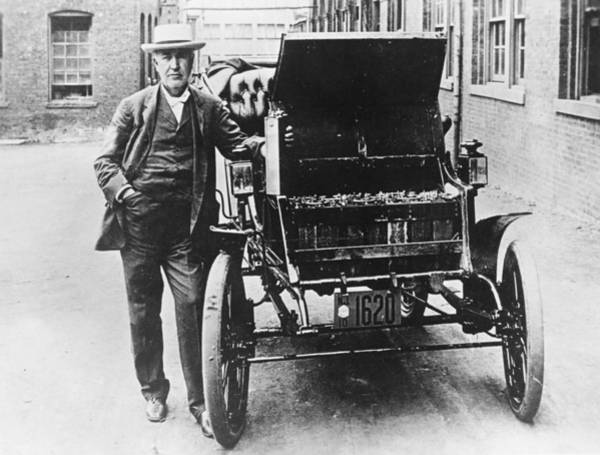 Physicist Photograph - Electric Car by General Photographic Agency