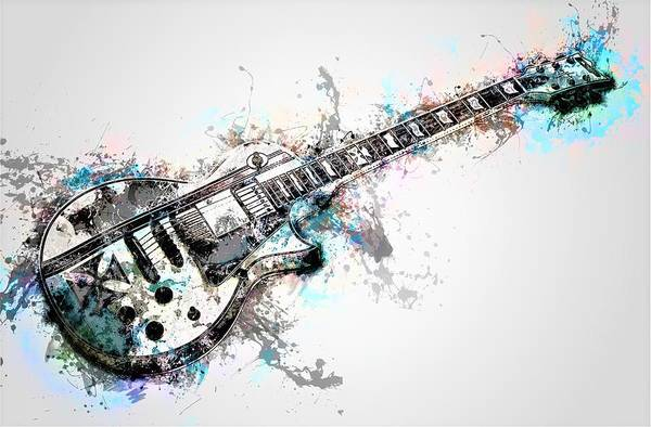Liquid Digital Art - Electric Guitar by ArtMarketJapan