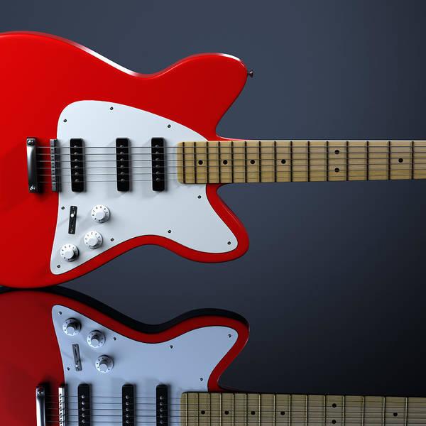 Scratchboard Wall Art - Photograph - Electric Guitar by Mevans