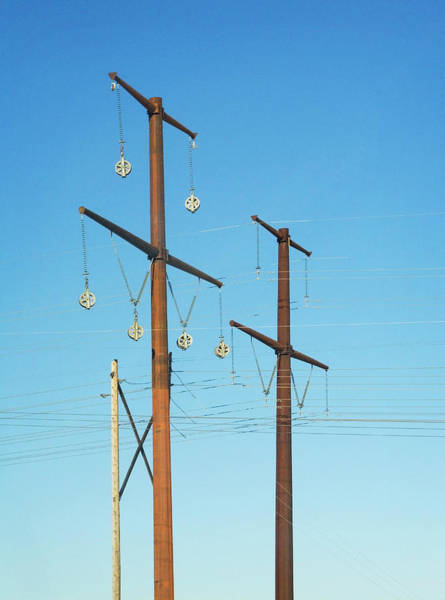 Photograph - Electric Line Pulleys by Marilyn Hunt